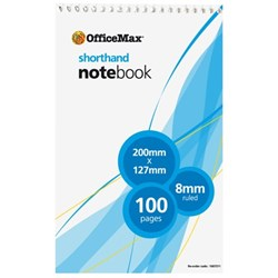 OfficeMax Shorthand Notebook Top Opening 100 Pages