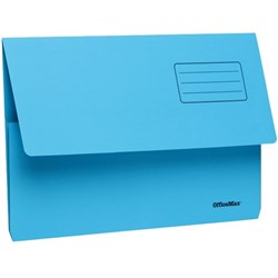 OfficeMax Document Wallet Cardboard Foolscap Blue