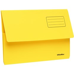 OfficeMax Document Wallet Cardboard Foolscap Yellow