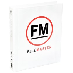 FM Overlay Ringbinder A4 38mm 4 Ring White