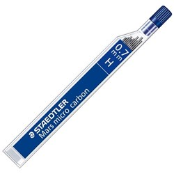 Staedtler Mars Micro Carbon 250 H Pencil Lead 0.7mm, Pack of 12