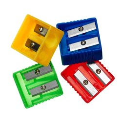 OfficeMax Plastic Assorted Colours Pencil Sharpener 2 Holes