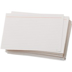85C System Cards, Feint Head, Ruled, 8x5 Inch, 200x125mm, Pack of 100