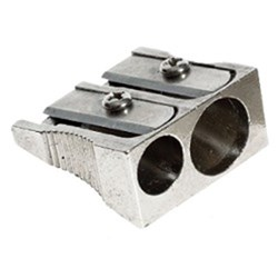 OfficeMax Metal Pencil Sharpener 2 Holes