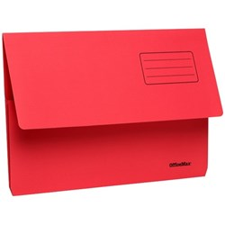 OfficeMax Document Wallet Cardboard Foolscap Red