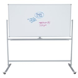 Boyd Visuals Acrylic Pivoting Mobile Whiteboard 1800x1200mm