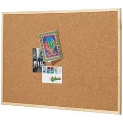 Quartet Cork Board Pine Frame 600x900mm
