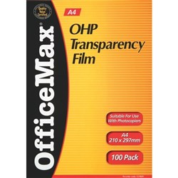 OfficeMax Overhead Projector Transparency Film A4, Pack of 100