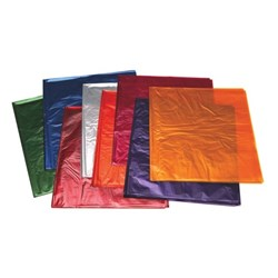OfficeMax Cellophane Sheets 750x1000mm Assorted Colours, Pack of 25