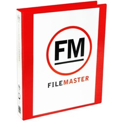 FM Overlay Ringbinder A4 38mm 3 Ring Red