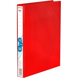 OfficeMax Overlay Ringbinder Polypropylene 2D A4 25mm Red
