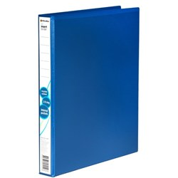 OfficeMax Overlay Ringbinder Polypropylene 2D A4 25mm Blue