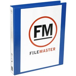 FM Overlay Ringbinder A4 26mm 4 Ring Blue