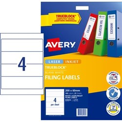 Avery Lever Arch Filing Labels L7171 4 Per Sheet