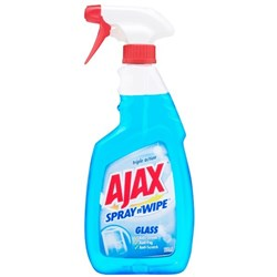 Ajax Spray n Wipe Glass Cleaner 500ml