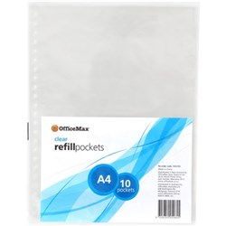 OfficeMax A4 Display Book Refills, Pack of 10