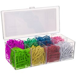 OfficeMax Paper Clips Round Vinyl Coated 33mm Assorted Colours, Pack of 800