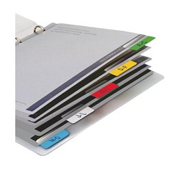 3L Index Tabs 40mm Assorted Colours 48 Tabs