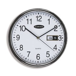 Carven Glass Face Analogue Wall Clock 285mm
