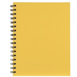Spirax 511 A5 Hardcover Notebook Yellow 200 Pages