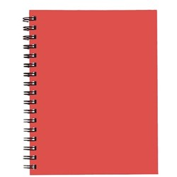 Spirax 511 A5 Hardcover Notebook Red 200 Pages