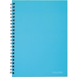 Collins A4 Hard Cover Spiral Notebook Ice Blue 200 Pages