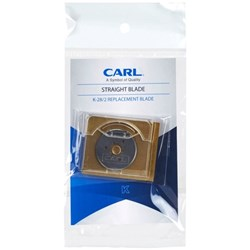 Carl Trimmer Straight Cutter Blade 28mm K28, Pack of 2