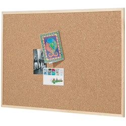 Quartet Cork Board Pine Frame 450x600mm
