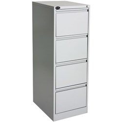 Proceed Commercial Filing Cabinet 4 Drawer Grey