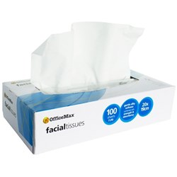 OfficeMax Facial Tissues 2 Ply, Box of 100
