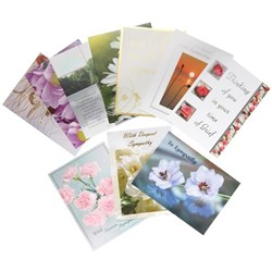 CCC Sympathy Greeting Cards Assorted Designs, Pack of 10