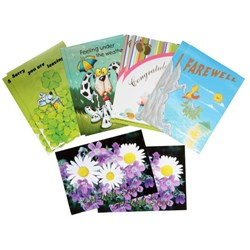 CCC Wellbeing Greeting Cards Assorted Designs, Pack of 10
