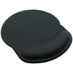 OfficeMax Mouse Pad & Wrist Rest Black