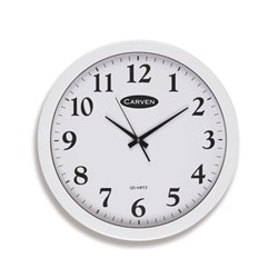Carven Glass Face Analogue Wall Clock 450mm