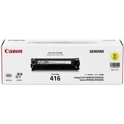 Canon CART416Y Yellow Laser Toner Cartridge