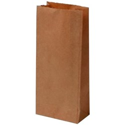 Block Bottom Paper Bags No.1 127x70x270mm Brown, Carton of 500