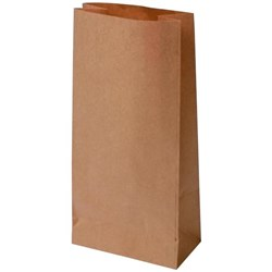 Block Bottom Paper Bags No.3 178x100x390mm Brown, Carton of 200