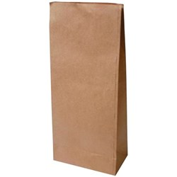 Block Bottom Paper Bags No.7 255x140x560mm Brown, Pack of 200