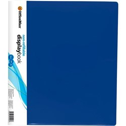 OfficeMax A4 Display Book 20 Pocket Blue