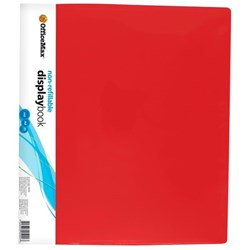 OfficeMax A4 Display Book 20 Pocket Red