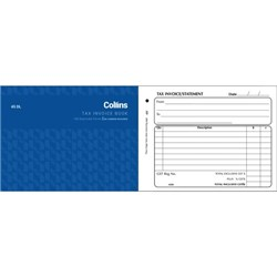 Collins 45DL Tax Invoice Book NCR Duplicate Set of 100