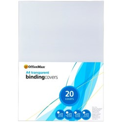 OfficeMax Binding Covers 250 Micron A4 Frosted, Pack of 20