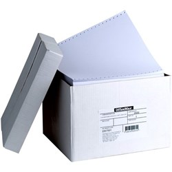 OfficeMax 1110/1WP 70gsm 1 Part Word Processing Lineflow Paper, Carton of 2500
