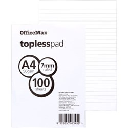 OfficeMax A4 Topless Pad 50gsm 100 Sheets