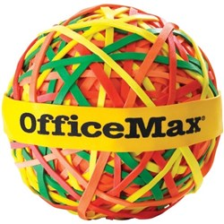 OfficeMax Rubber Band Ball Assorted Colours 113g