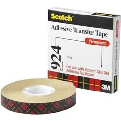 Scotch® 924 ATG Adhesive Transfer Tape 6.4mm x 33m