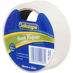 Sellotape 1450 Book Repair Tape 36mm x 25m Clear