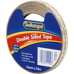 Sellotape 1205 Double Sided Tape 12mm x 33m
