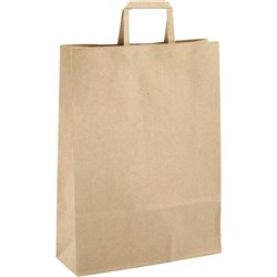 Paper Bag Carrier Handle Large 320x110x420mm Brown