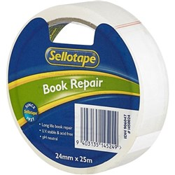 Sellotape 1450 Book Repair Tape 24mm x 25m Clear